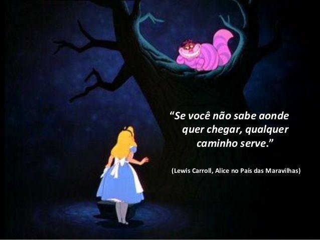 Ilustração com citação do livro Alice no País das Maravilhas