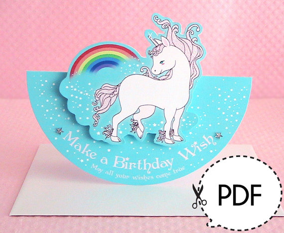 Unicorn seesaw birthday card printable pdf download emo unicorn seesaw birthday card printable pdf download bookmarktalkfo Images
