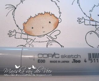 Copic Marker Europe: Tutorial on coloring rosy cheeks and face