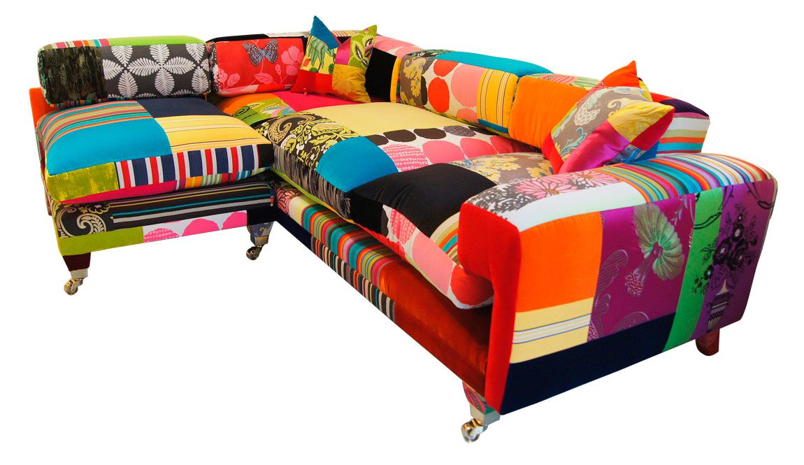 Attractive Multi Colored Sofa Design For Living Room Interior