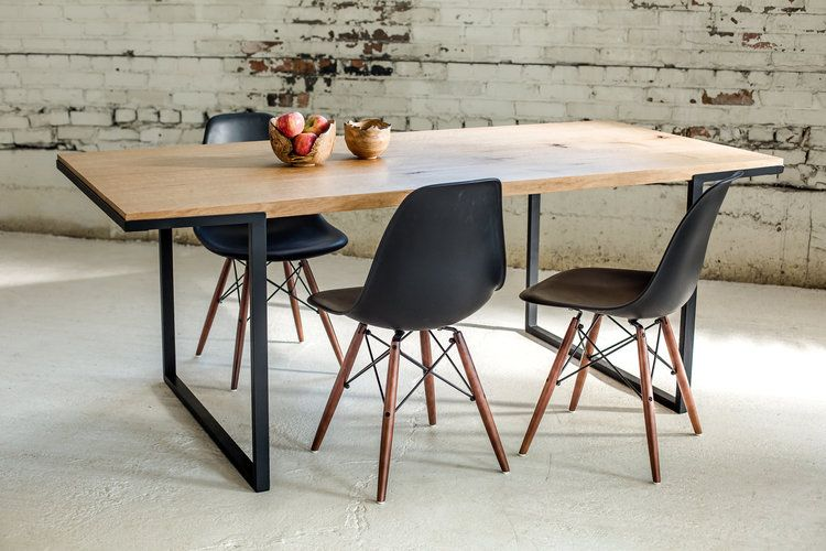 Wooden Dining Room Table Industrial Dining Table Midcentury