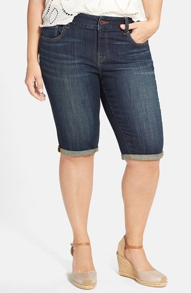 lucky brand 'ginger' denim bermuda shorts (plus size) available at
