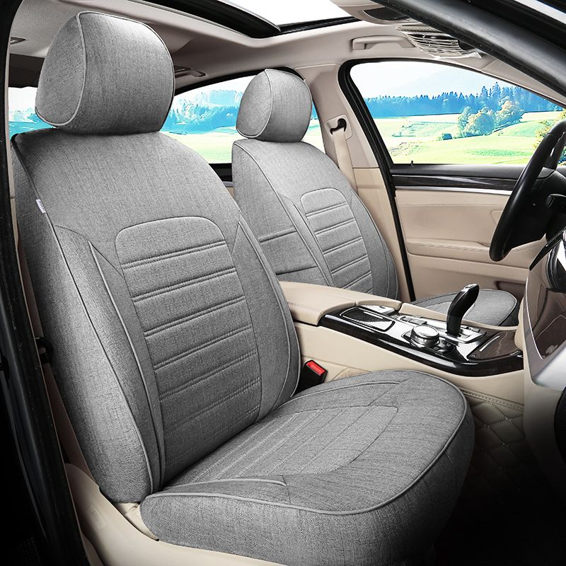 Linen Fabric Car Cushion Set For Acura MDX Car Seat Covers For Cars - Acura mdx seat covers