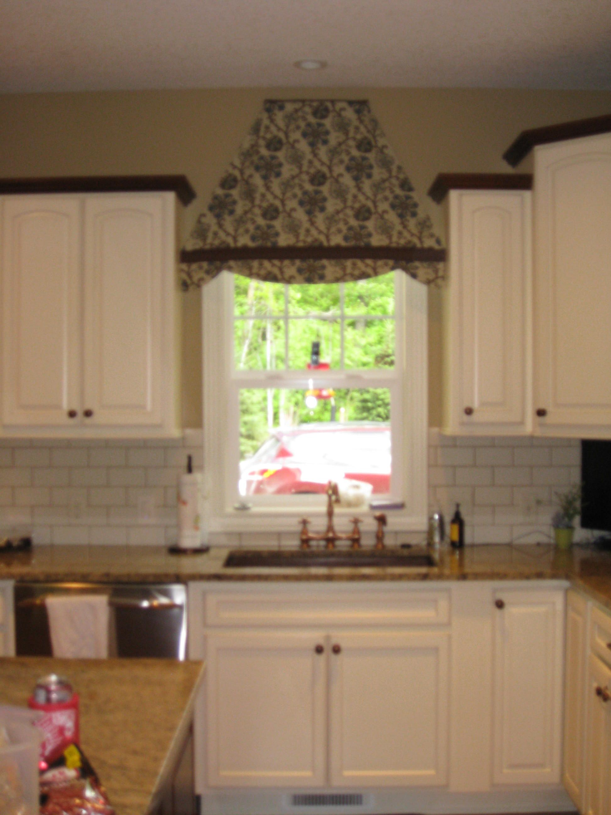 Kitchen Window Valance Awning Style For A More Interesting Look
