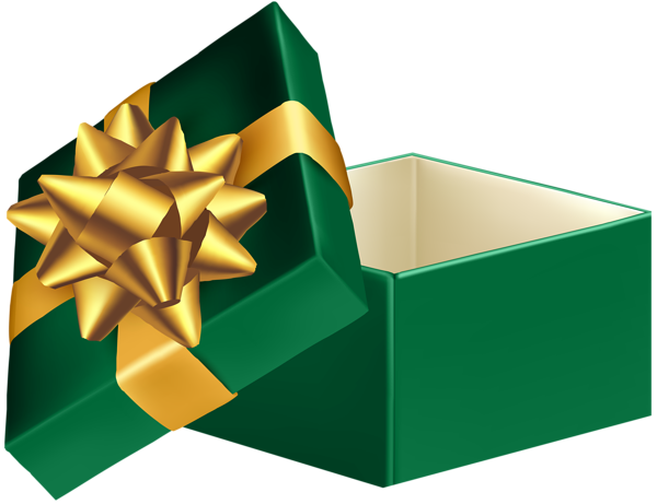 Green Open Gift Box Png Clip Art Image Clip Art Art Images Free Clip Art