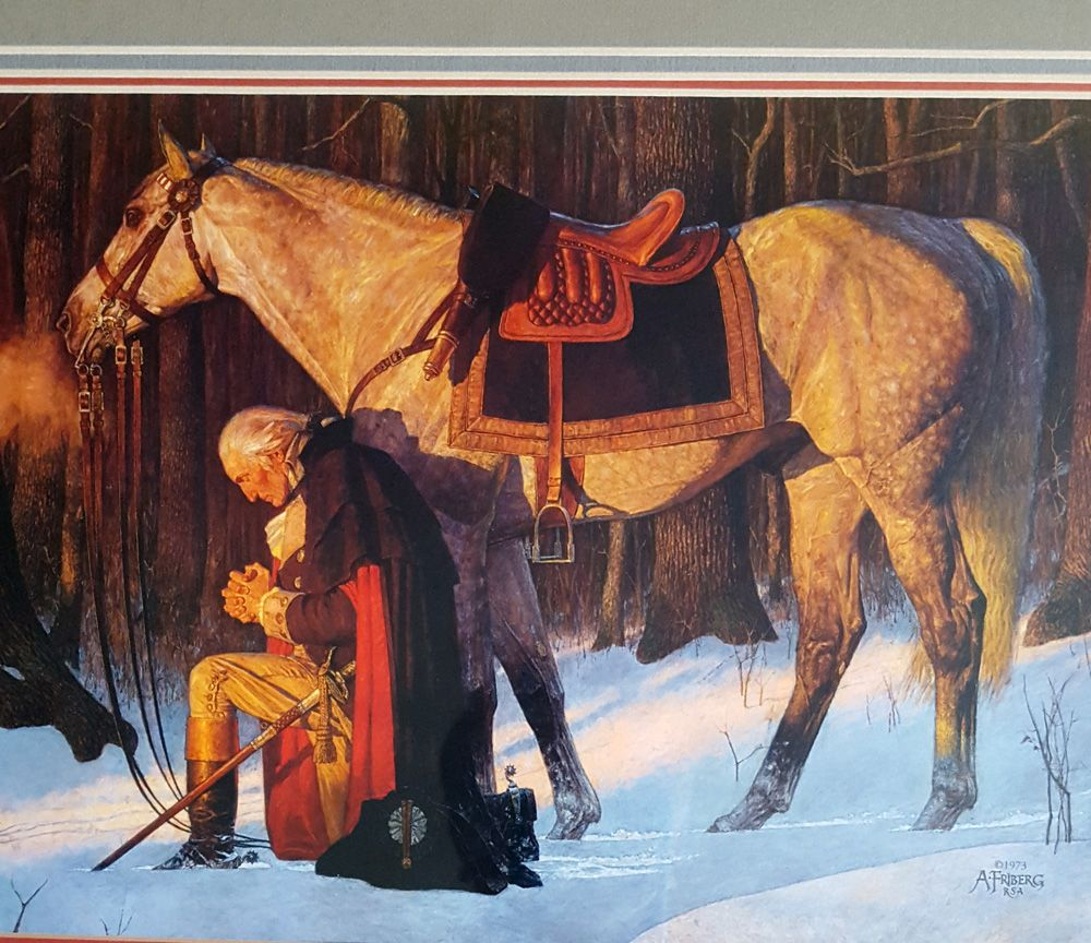 "Arnold Friberg ""Prayer At Valley Forge"" 