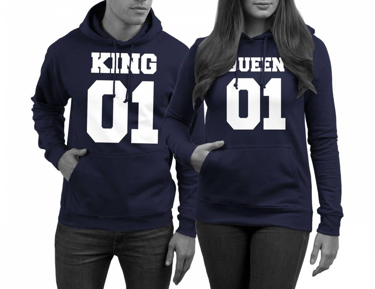 Parchen Pullis King Und Queen Navy Pulli Paar Pullis King Und Queen Pulli