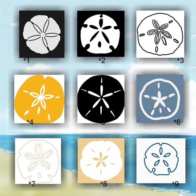 SANDDOLLAR Vinyl Decals  Tropical Vinyl Decals Seashells - Custom vinyl stickers