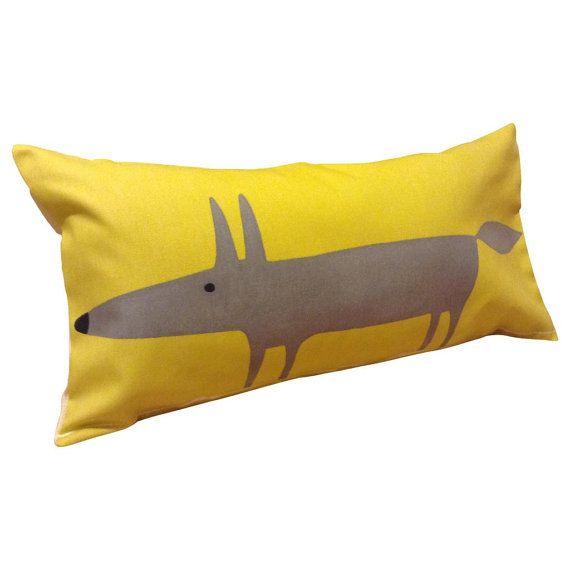 Mr Fox Cuscini.Scion Mr Fox Yellow Bolster Cushion Cover In 2020 Yellow Cushion