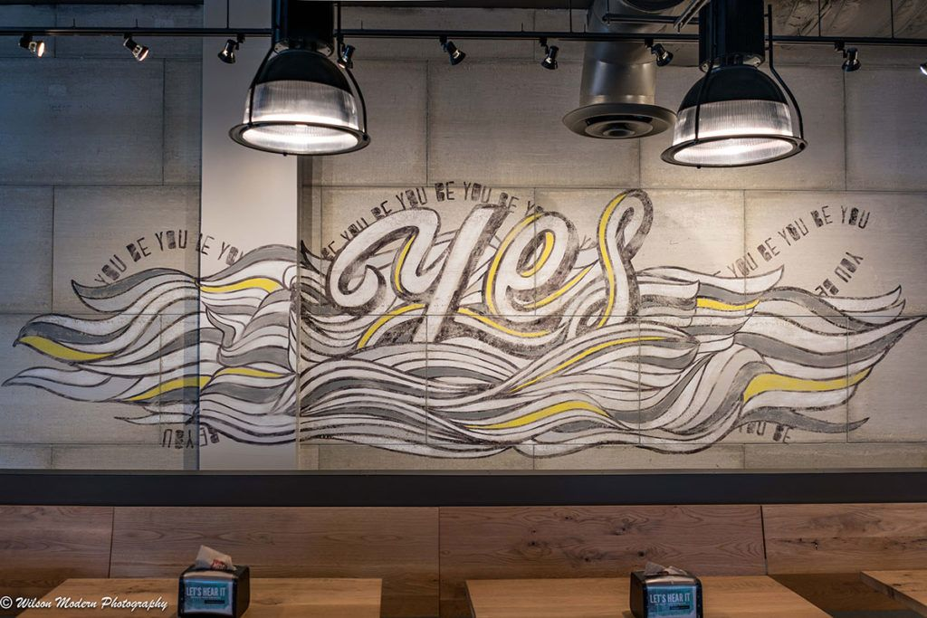 Delaware Mural Company Mod Pizza at University Wall