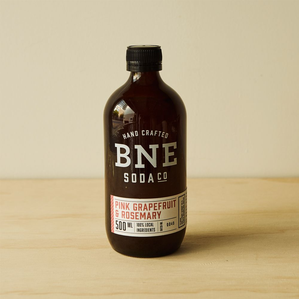 BNE Soda Co. Pink Grapefruit And Rosemary