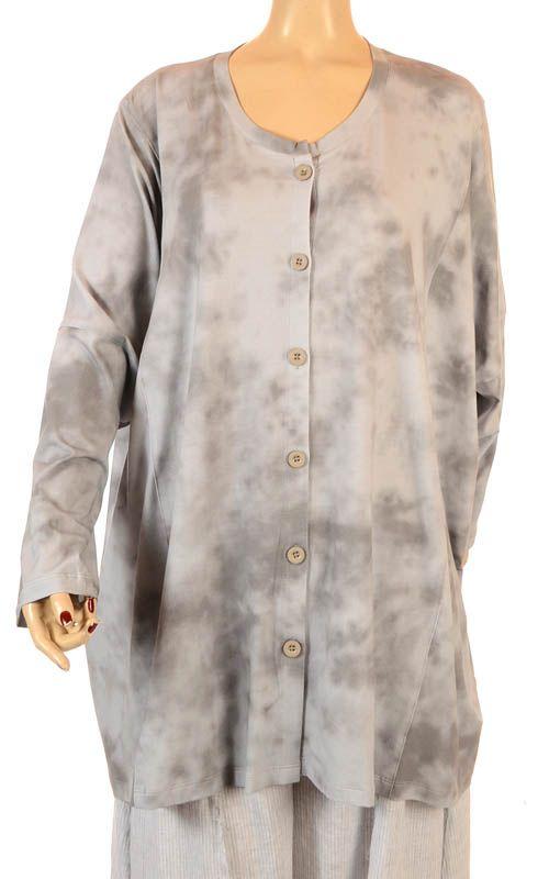 Nook Grau Batik Sommer Oversize Shirt / Jacke Nook, Lagenlook ...