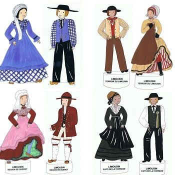 Traditional Costumes in Limousin - Creuse top left | Tribal Love ...