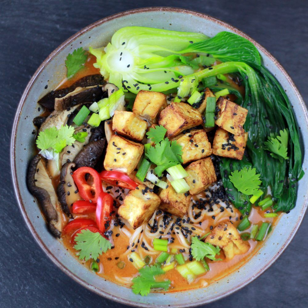 Curry Ramen Suppe mit Tofu (HCLF & vegan) #ramensuppe