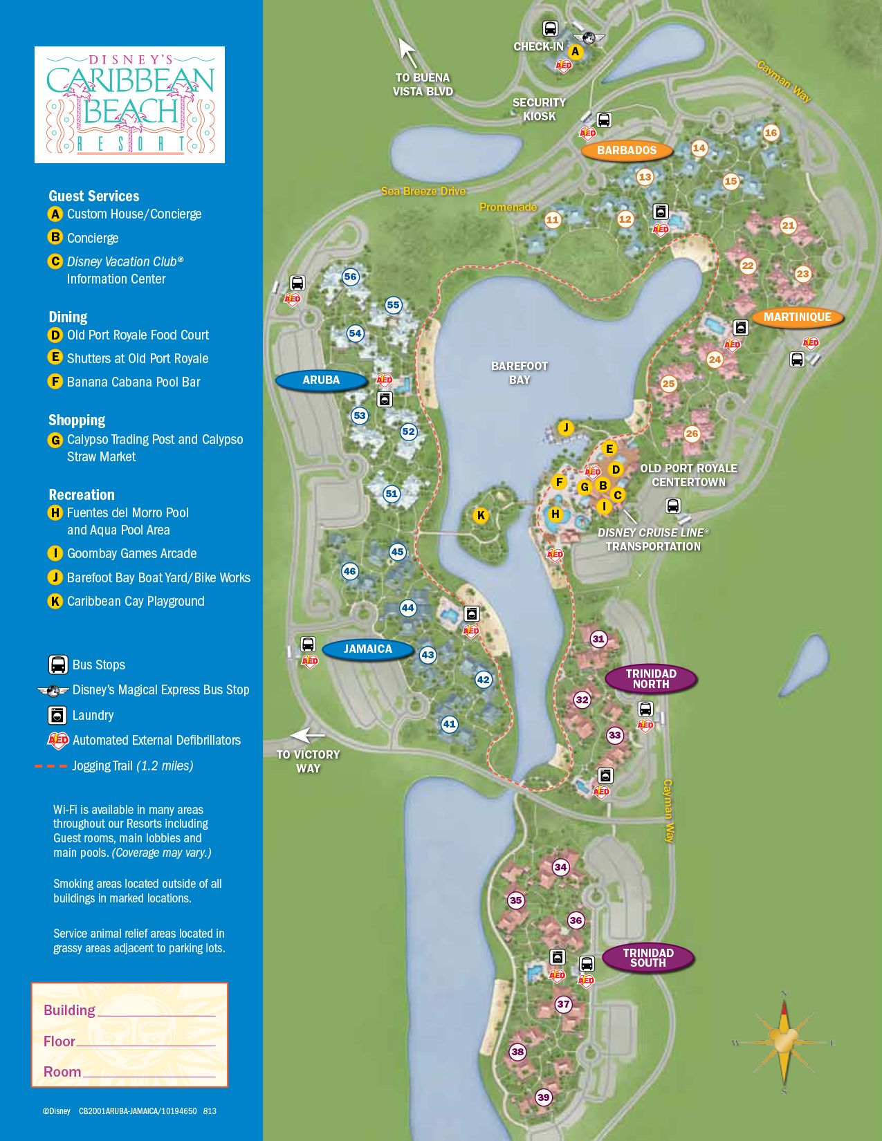 Caribbean Beach Resort Map Disney World Maps Pinterest