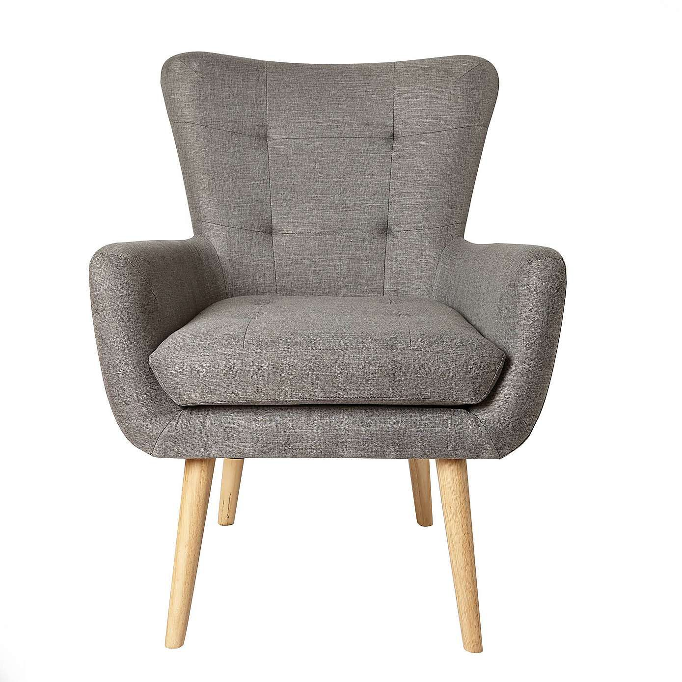 Alva Grey Chair Dunelm With Images Grey Occasional Chair