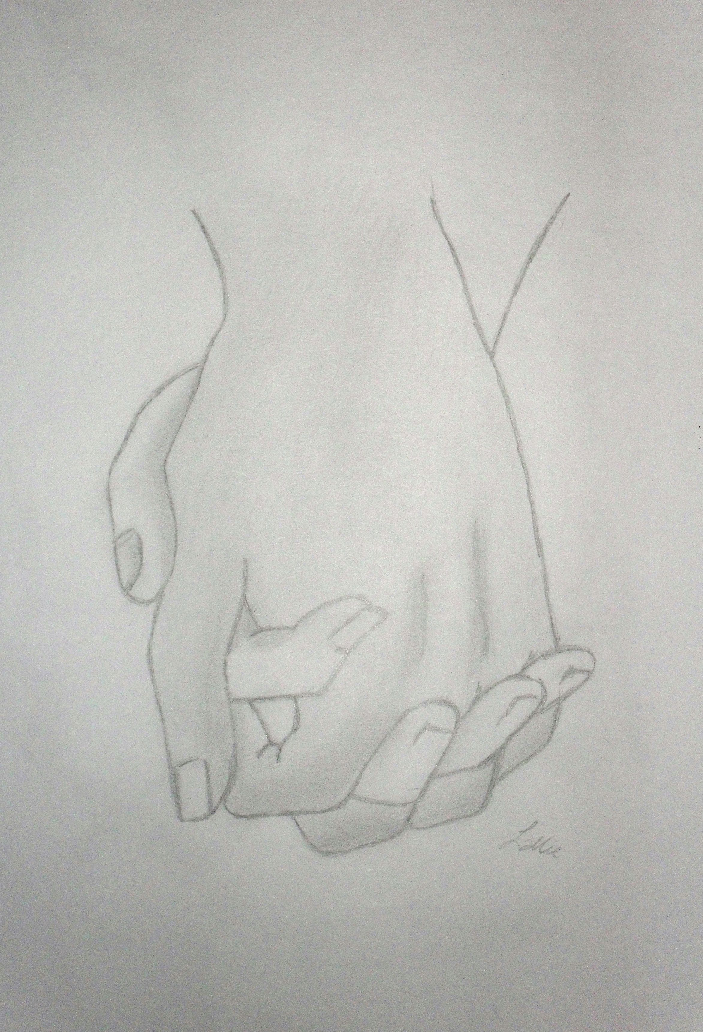 Holding hands drawing lallie 2015 jul 4 2012