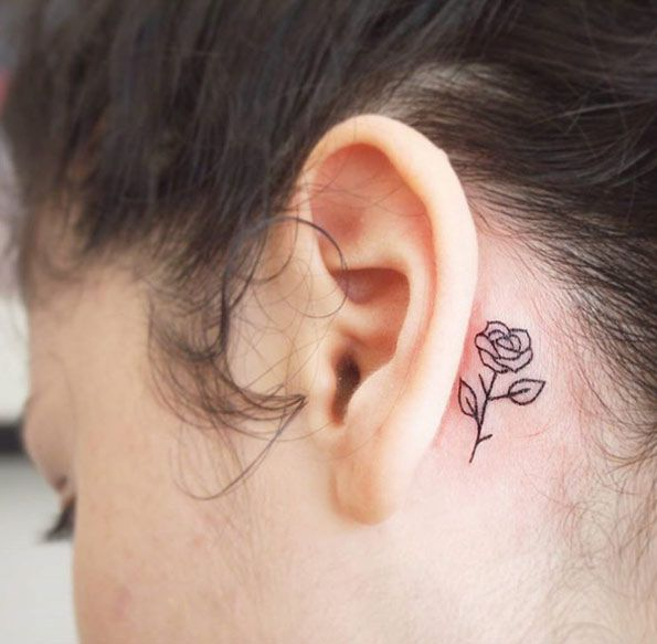 40 Amazing Behind The Ear Tattoos For Women With Images