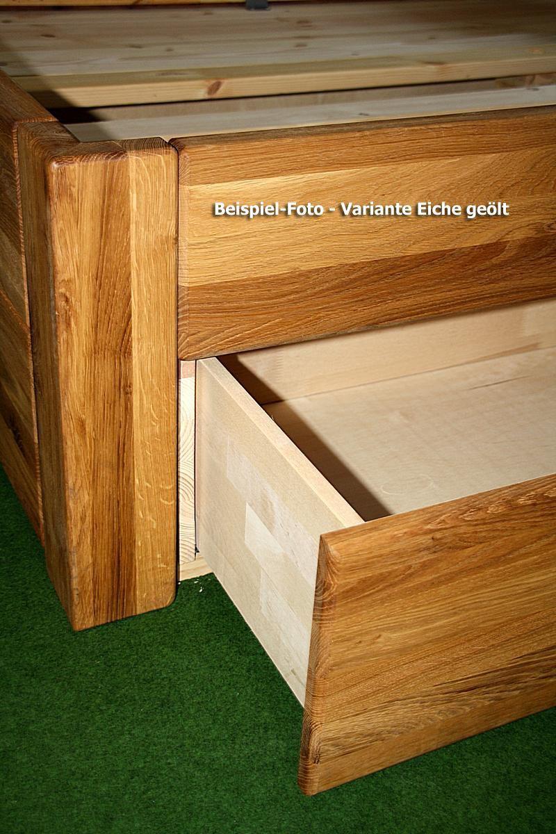 massivholz schubladenbett 180x200 holzbett bett eiche massiv ge lt build the bed already in