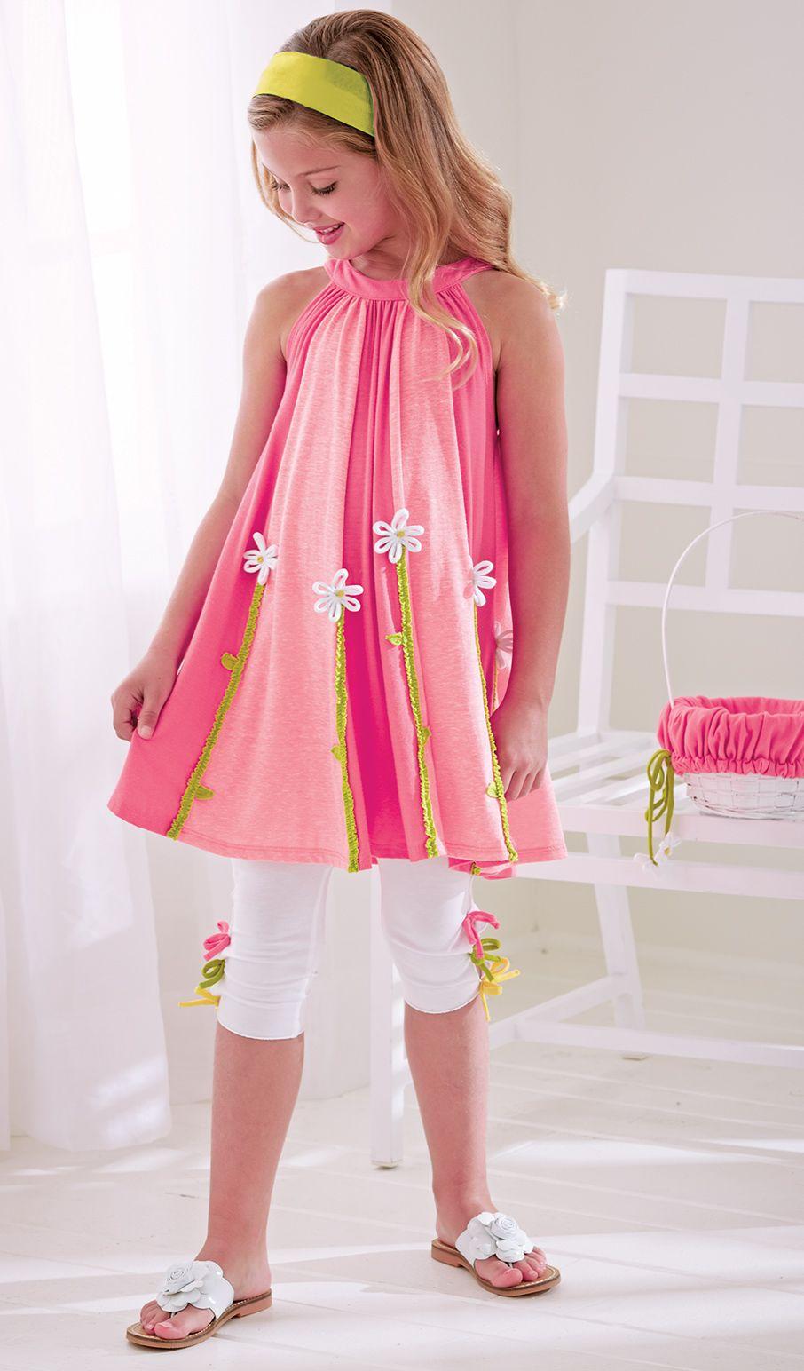 From CWDkids: Daisy Tunic & Mid-Calf Capris   moda infantil ...