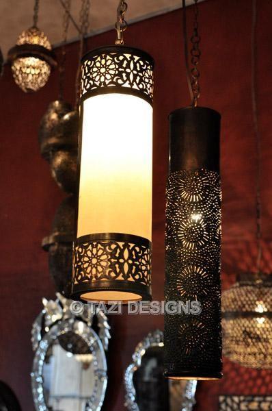 Moorish Cylinder Pendant Lamp 15 : Moroccan Lamps