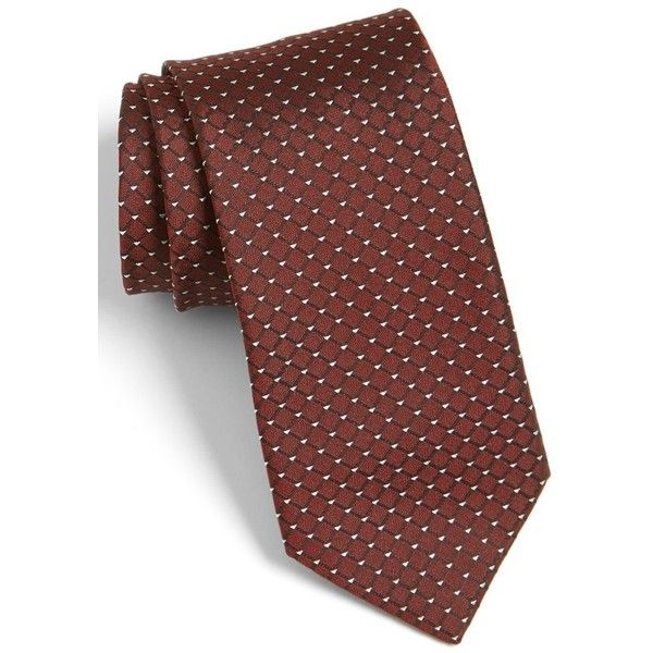 HUGO Grid Silk Tie (10795 RSD) ❤ liked on Polyvore featuring men's fashion, men's accessories, men's neckwear, ties, burgundy, geometric tops, red top, red silk top, hugo and burgundy top