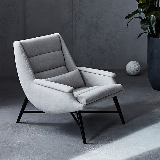Swoop Chair + Ottoman | Chair, ottoman, Chair, Bedroom chair