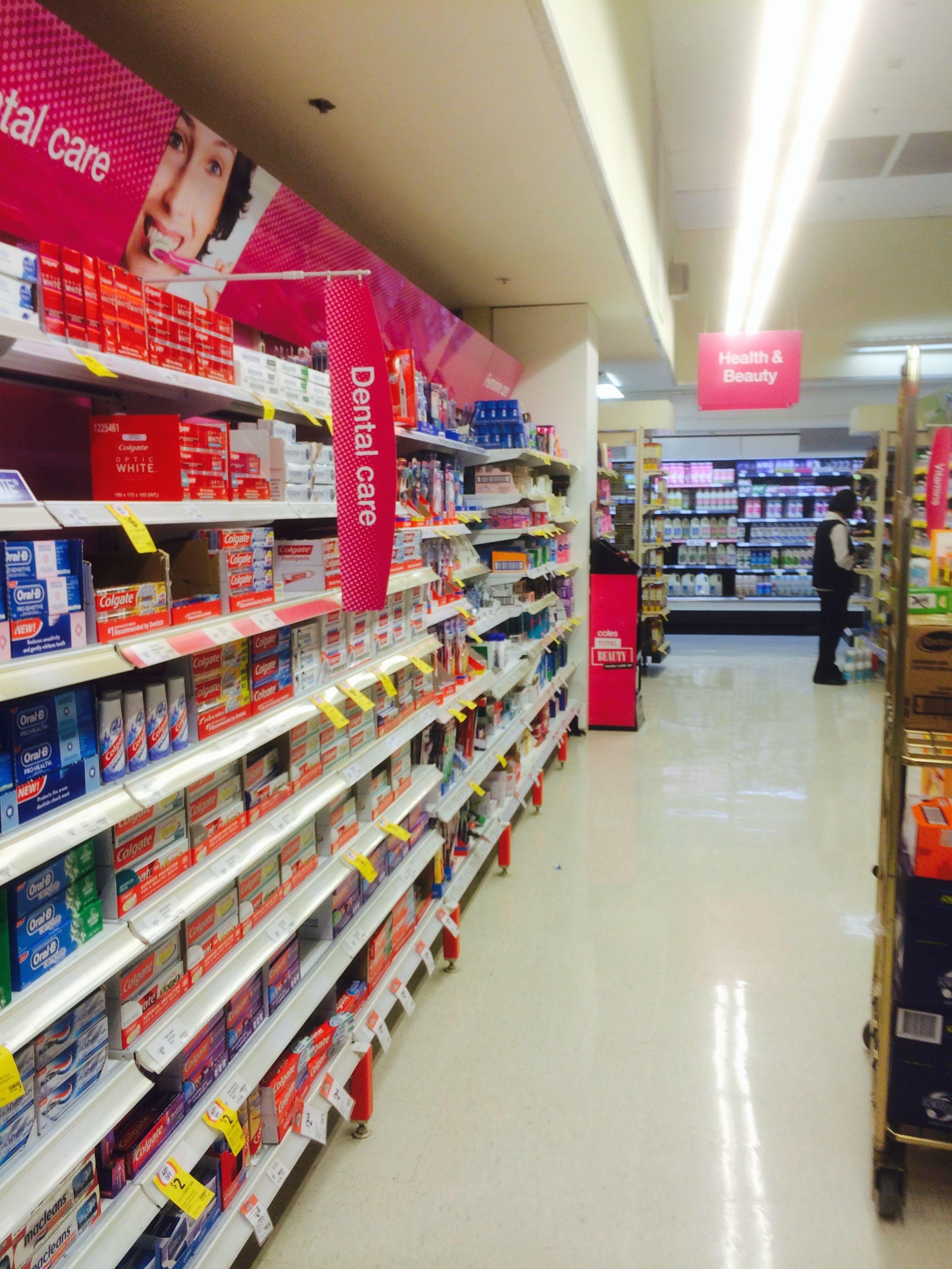 Coles Sydney Supermarket Food Layout Fixtures Journey