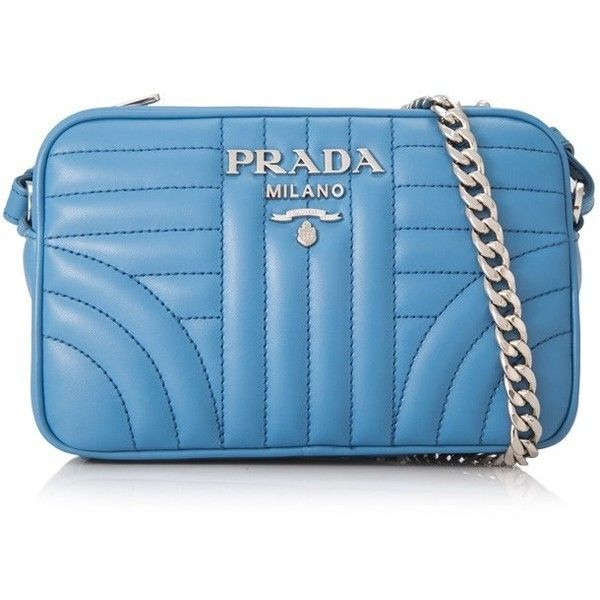 b617e19c03a5 Prada Soft Calf Impunture Diagramme Shoulder Bag 18Cm (117080 RSD) ❤ liked  on Polyvore featuring bags, handbags, shoulder bags, blue, prada shoulder  bag, ...