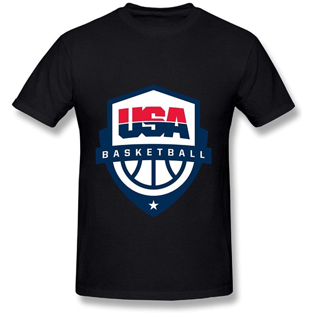 United States Usa Olympic Basketball Logo Black T Shirt For Men Olympic Basketball Black Tshirt Mens Tshirts