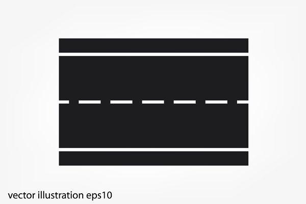 Road Icon Vector Planimetria Cumple Carretera