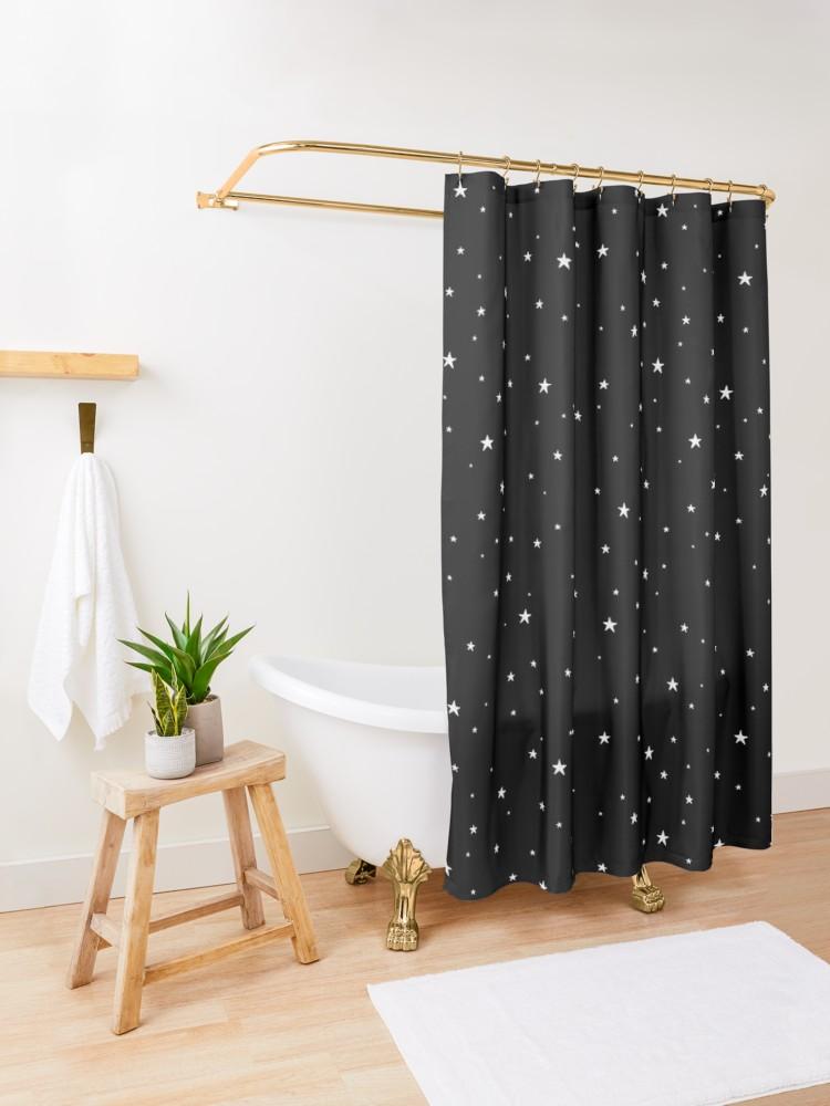 Tiny Stars Dark Shower Curtain By Meandthemoon Dark Shower