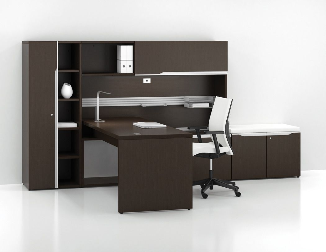 I Like This Layout Better But With Two Doors On The Tall Cabinet Lacasse Nex Desk Furniture Office Furniture