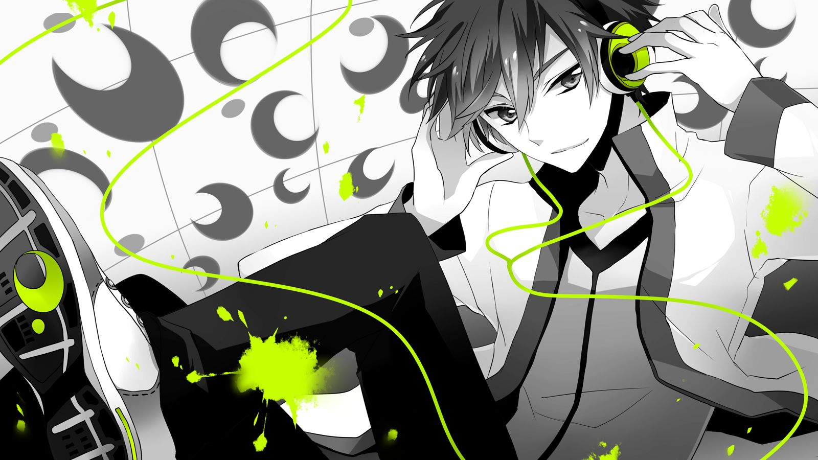 Anime guy headphones wallpaper hd widescreen 11 hd - Anime guy wallpaper ...