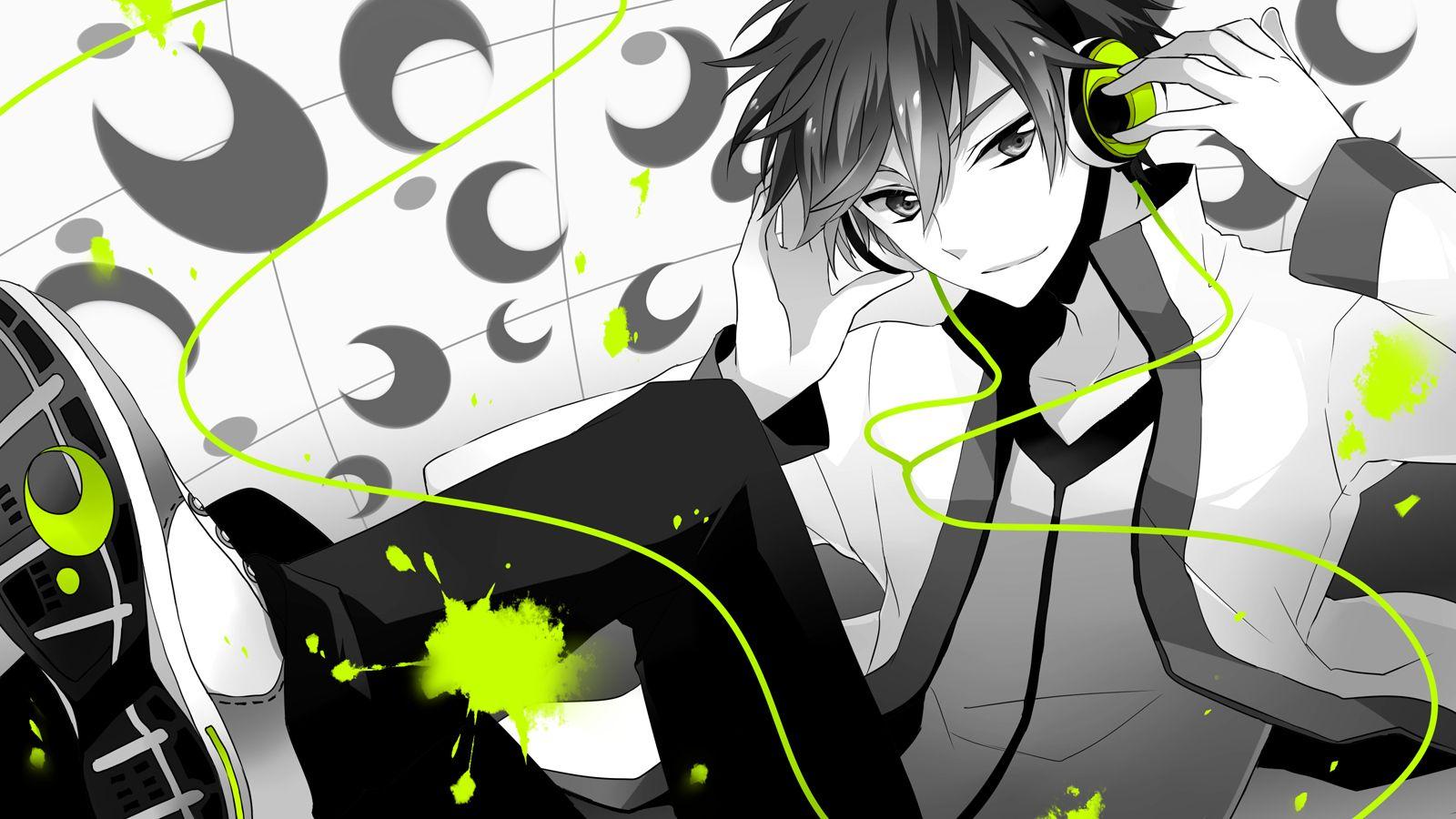 Anime Guy Headphones Wallpaper Hd Widescreen 11 HD