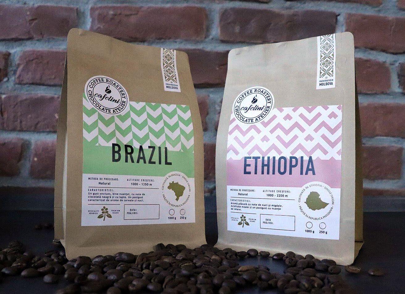 Cafelini Coffee Beans Packaging Design by Brand Look in