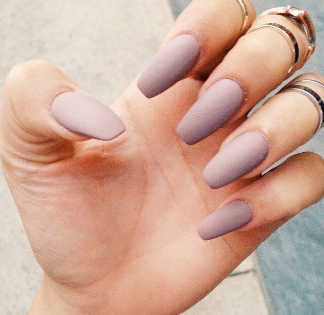 Idk how I feel about ballerina nails but I love the colour and matte ...