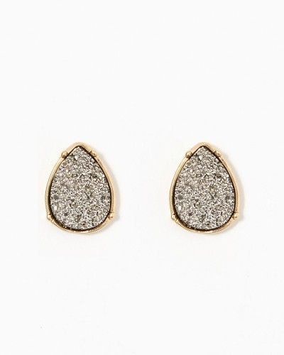 Druzy Teardrop Stud Earrings -- charming charlie -- $8