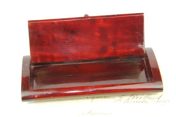 Here is a charming vintage French pencil box from 1950s Vintage lacquer pencil box, certainly made in Viet-Nam office Pencil Case, Vintage Lacquer