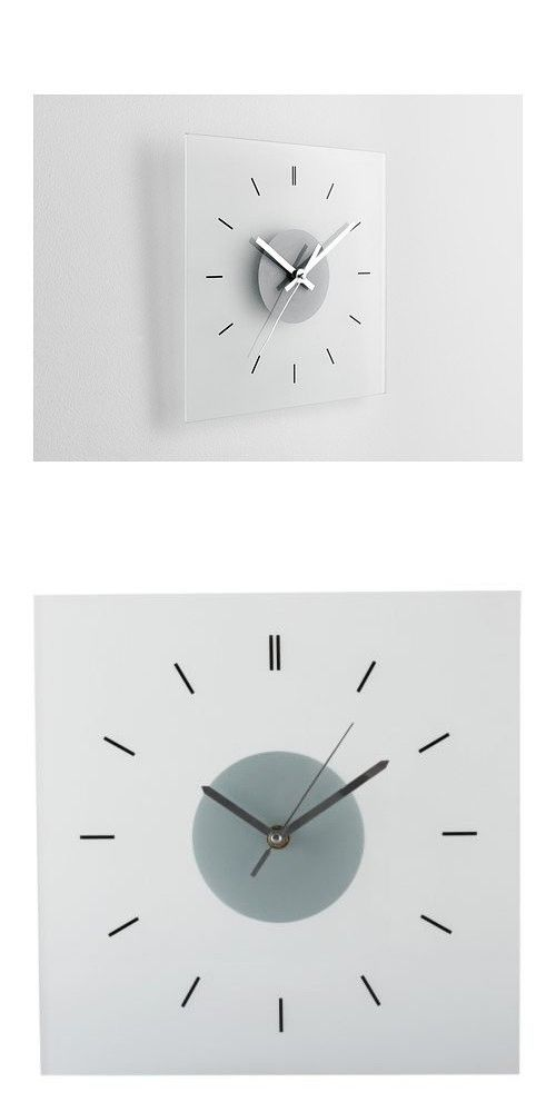 Ikea Skoj Modern Wall Clock, Glass Analog Clock | Wanduhren ...