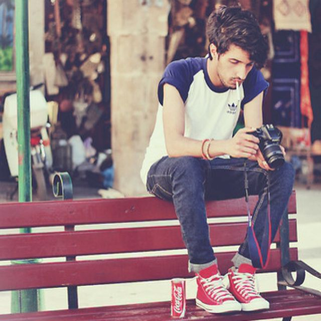 Red converse outfit, Mens outfits
