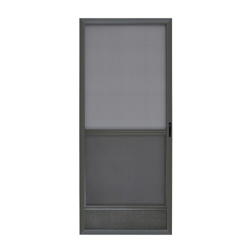 Shop Reliabilt 6020 Bronze Aluminum Frame Hinged Screen Door Common 36 In X 80 In Actual 36 In X 80 In In The Screen In 2020 Screen Door Reliabilt Types Of Doors