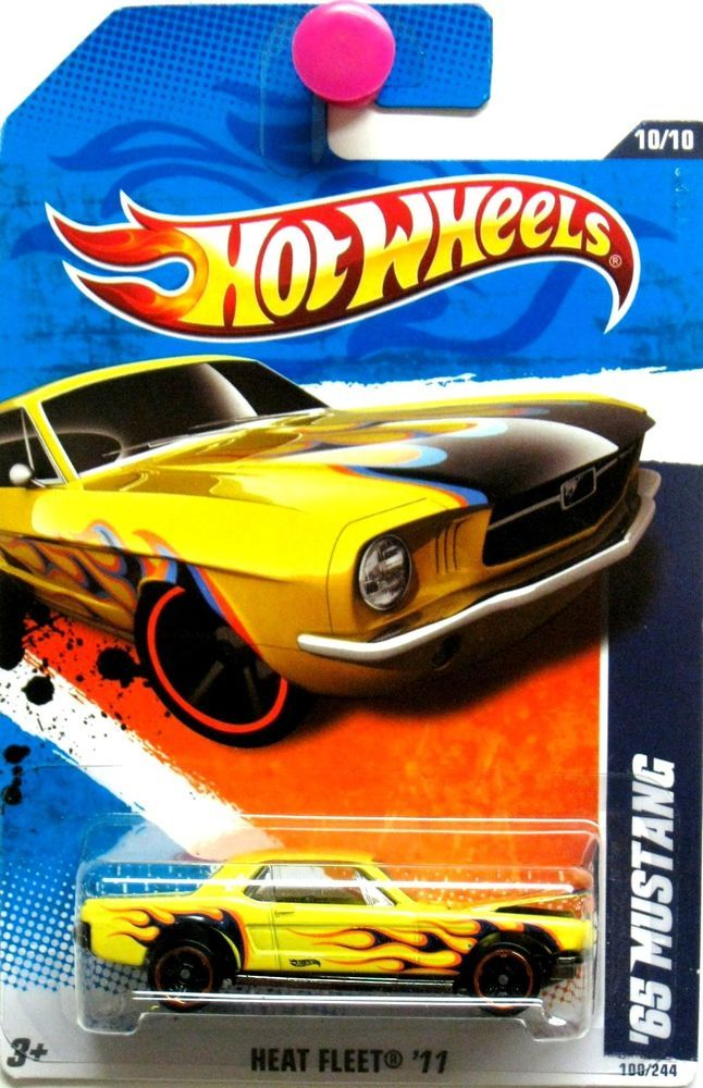 1965 Ford Mustang 2011 Hot Wheels Heat Fleet 10 10 Yellow Hotwheels Ford Hot Wheels Toys Hot Wheels Mustang Hot Wheels