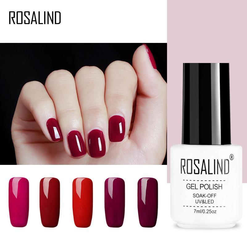 Rosalind Gel 1s Red Colors 7ml Nail Polish White Bottle Uv Led Nail Art Beauty Nail Polish Semi Permanent Cheap Gel Lacquer Nail Polish Gel Lacquer Gel Nails