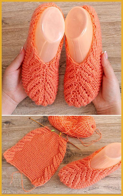 Photo of Lace Slippers – Free Knitting Pattern