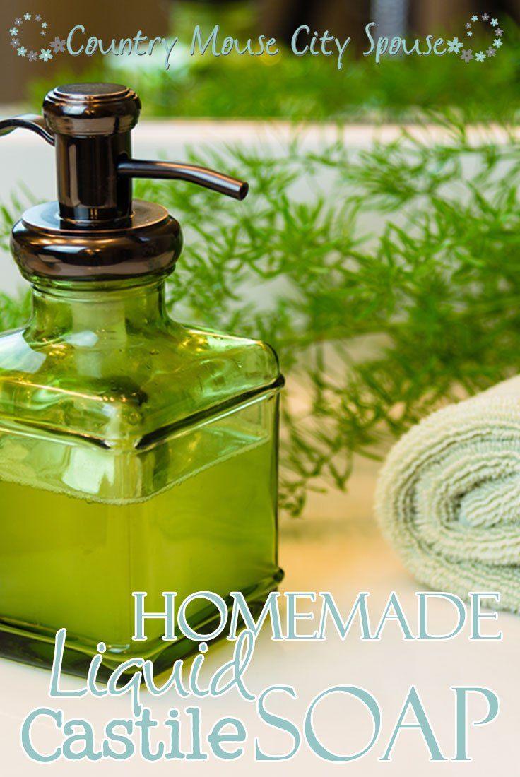 Homemade Liquid Castile Soap (With images)   Liquid ...