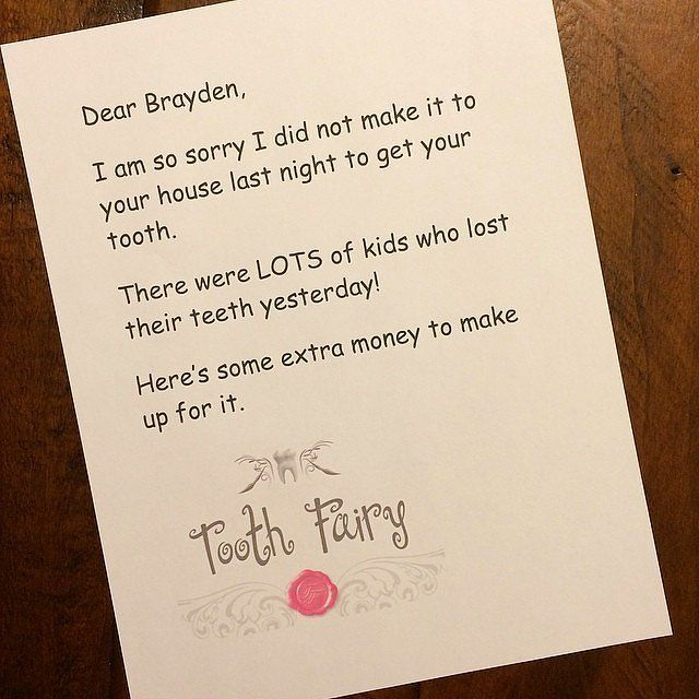Hilarious and Genius Apology Notes From the Tooth Fairy Fairy