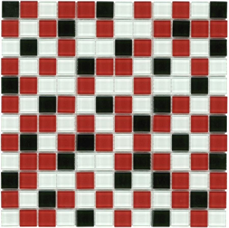 Glass Mosaic Tile Backsplash Red Black 1x1 Glass Mosaic Tiles Mosaic Tile Backsplash Glass Mosaic Tile Backsplash