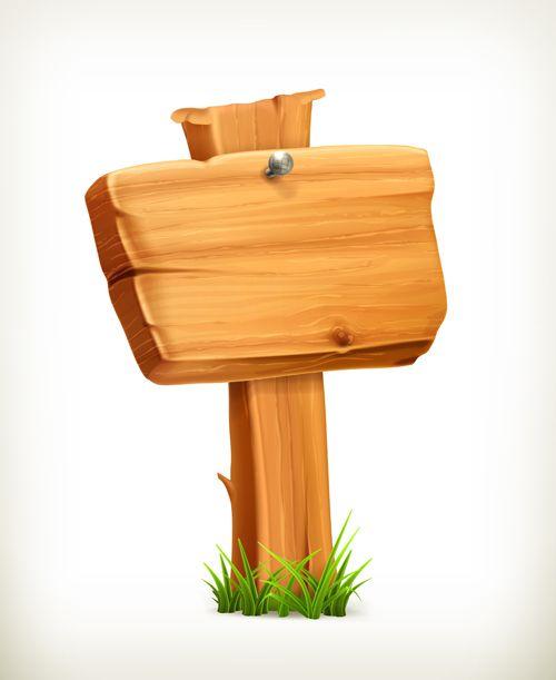 Creative Wooden Boards Signs Vector Material 01 Wooden Board Frame Border Design Vector Free