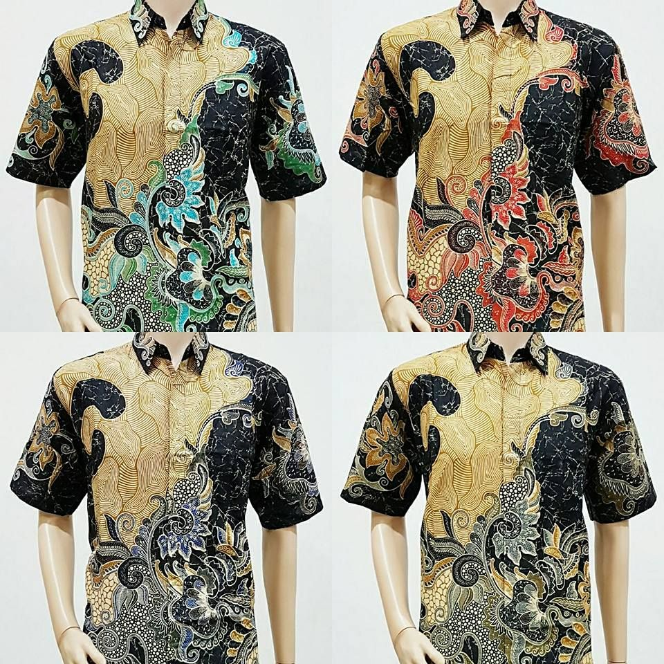 Kemeja Batik Lasem: Model Baju Batik Pria Lengan Pendek Pola Daun 2018